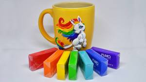 Unicorn on cup