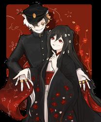 [Commision] Tsubaki and Musashi [reality-unwoven]