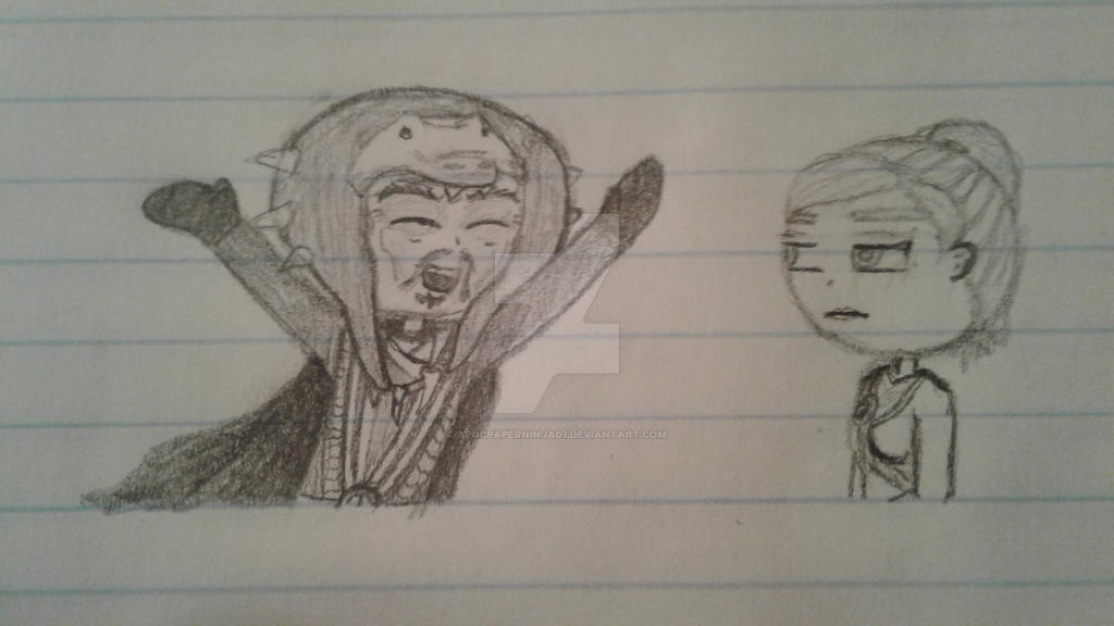 Doodle of Master Chen and Skylor by Ninjago-7