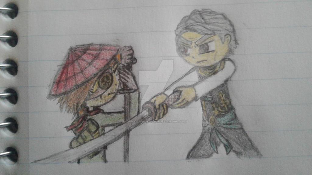 Ronin vs. Garmadon by Ninja--7