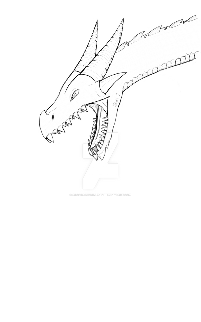 Dragon doodle by Ninja--7