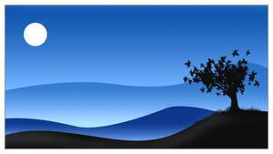 Blue Sunset Vector