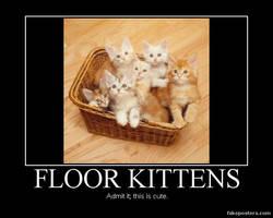 Floor Kittens in a Basket by Onikage108