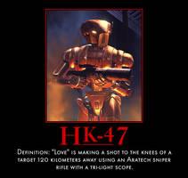 HK-47 Demotivational by Onikage108