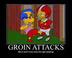 The Simpsons Groin Kick