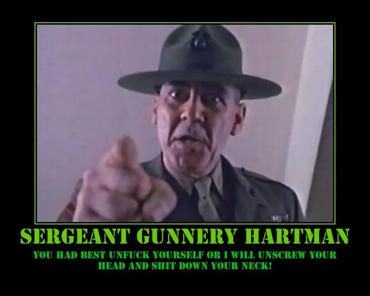 Gunnery Sergeant Hartman Quotes Quotesgram