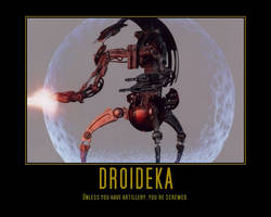 Star Wars Droideka by Onikage108