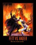 Star Wars Boba Fett vs Darth Vader