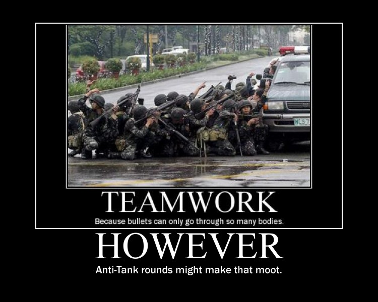 Teamwork Demotivational by Onikage108