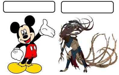 Comparison Meme:  Mickey Mouse vs Great Horned Rat