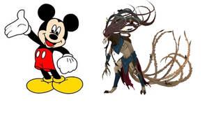 Updated Meme:  Mickey Mouse vs Horned Rat