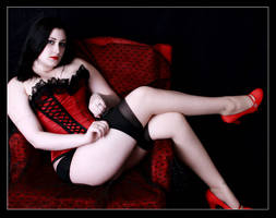 Red Shoe Pinup by yummyphroot