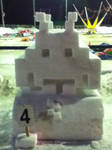 Space Invaders snow sculpture
