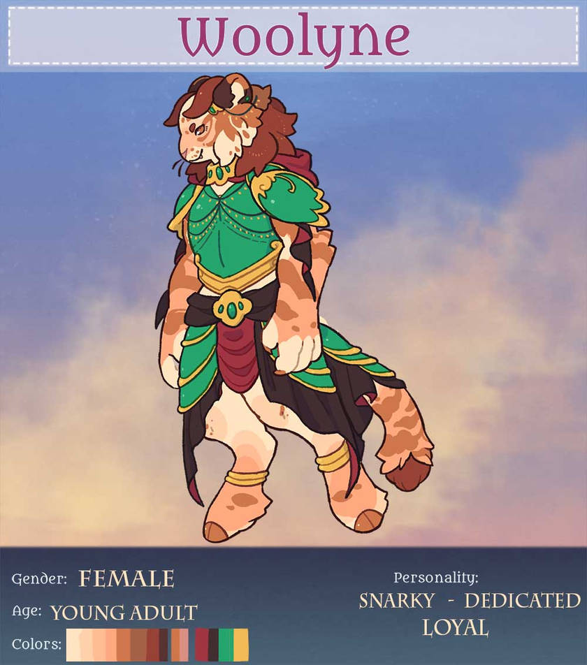 Amber [Woolyne Registration Sheet] by Captain0Dragon