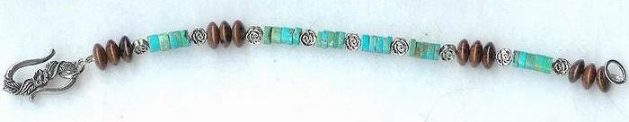 Turquoise Obsidian Bracelet 2 by shetakaey