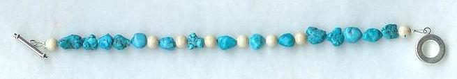 Turquoise Nugget Bracelet by shetakaey