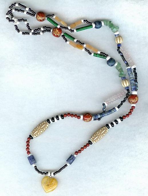 Beaded Hippy Necklace by shetakaey