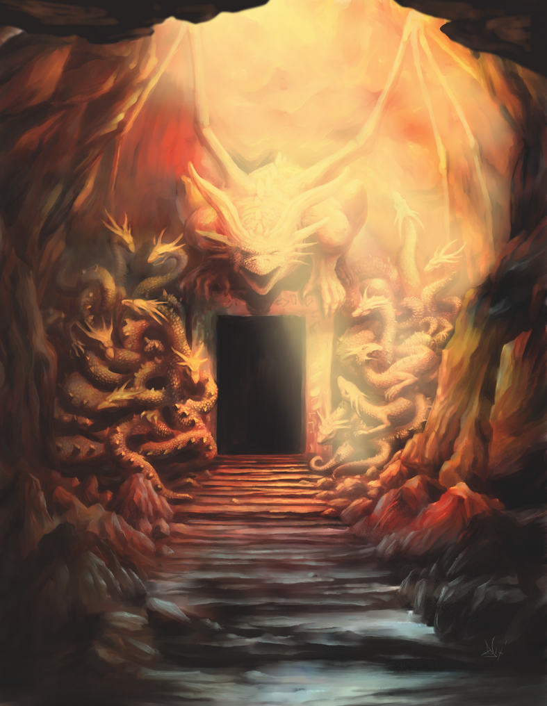 Dragon cave 3 of 3 by Sketchbookuniverse