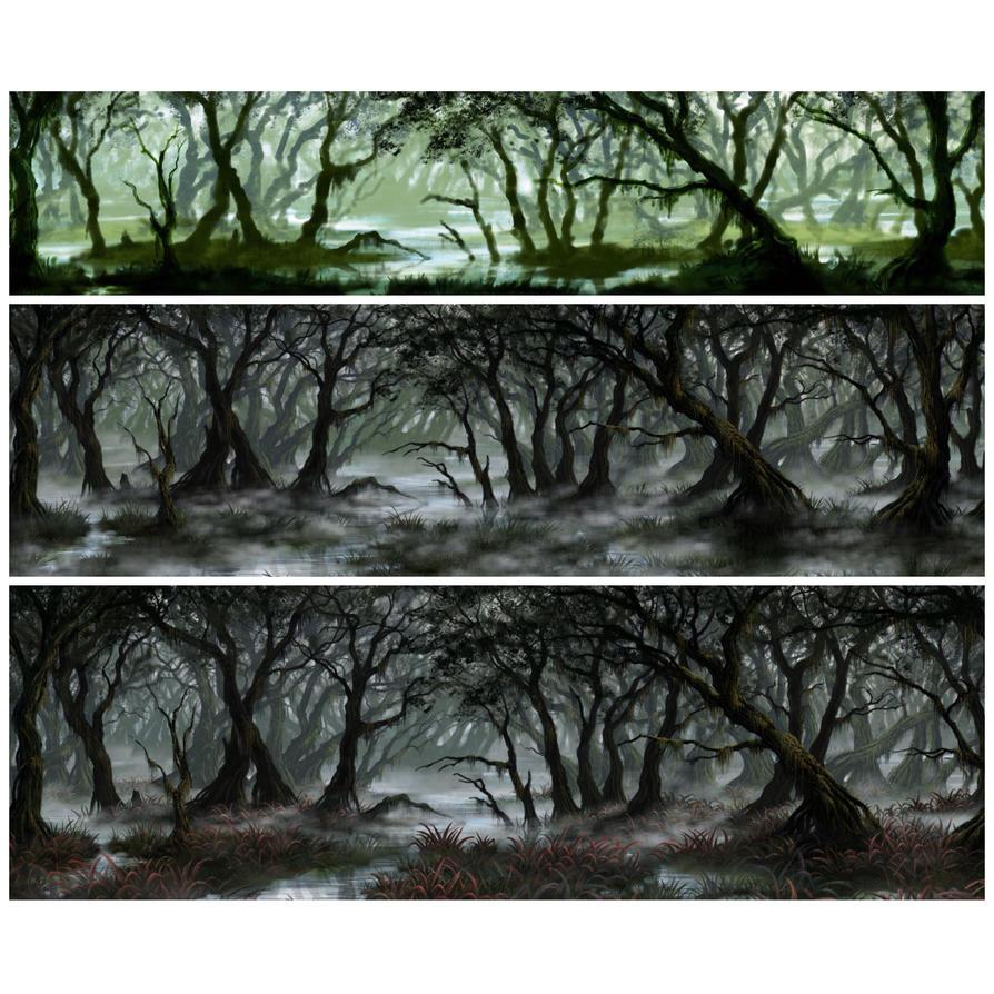RPG commission: Swamp (WIP) by Sketchbookuniverse
