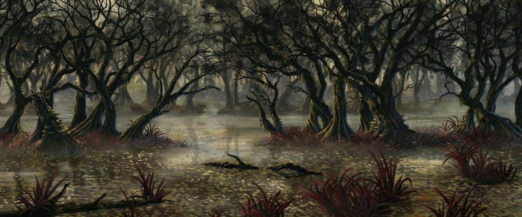 RPG commission: Swamp 2 (WIP) by Sketchbookuniverse