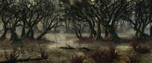 RPG commission: Swamp 2 (WIP)