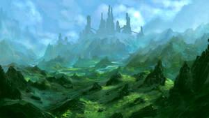 Castle speed paint (1hr) by Sketchbookuniverse