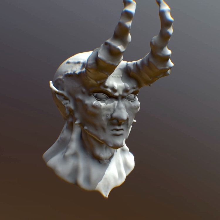 Demon Head (Sculptris) by Sketchbookuniverse