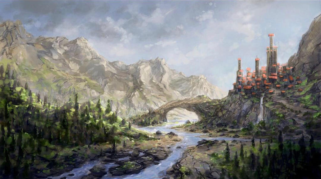 Valley Town by Sketchbookuniverse