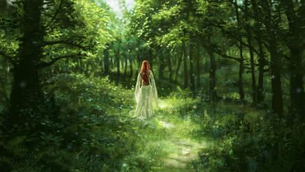Forest girl by Sketchbookuniverse