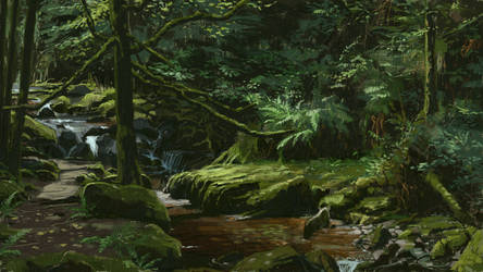 Green forest 2 - Thick paint