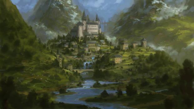 Fantasy castle sketch