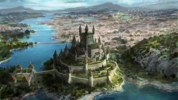 Fantasy castle sketch 2 of 3