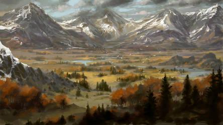 Landscape Sunday scribble