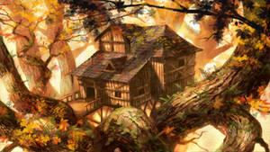 Autumn treehouse