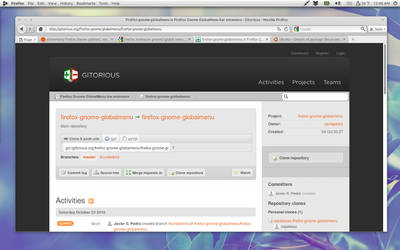 Firefox with Global Menu