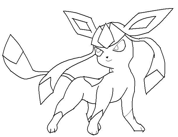 Pokemon Glaceon Human Coloring Pages