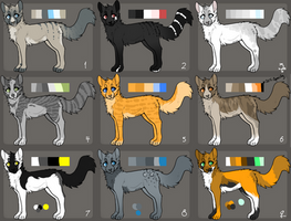 .: 9 Cat Adoptables - OPEN! :. by Jayflop