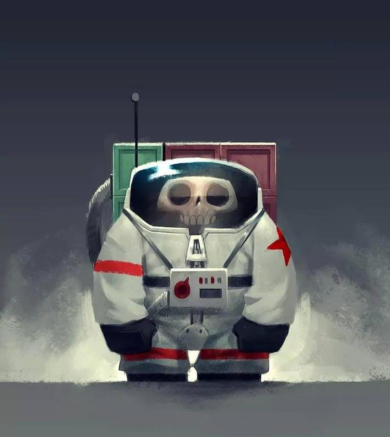 The tiny Cosmonaut! by Murfish