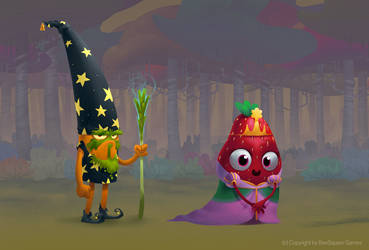Strawberry princess and Carrot Wizard