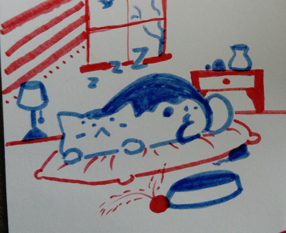 Quik cat doodle  by K-Ackerman