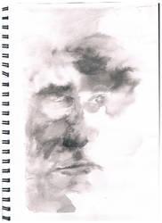 Self portrait: wet on wet by ravensatan