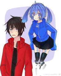 Shintaro and Ene by cathlovescookies
