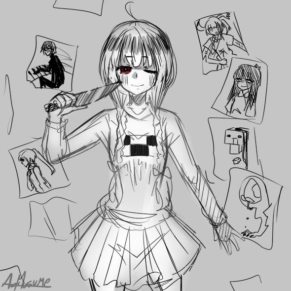 Yume Nikki Sketches by cathlovescookies