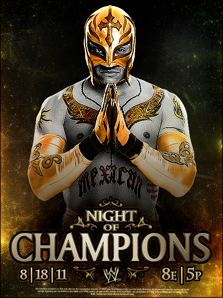 Night Of Champions 2011 Poster by YouCantWrestle