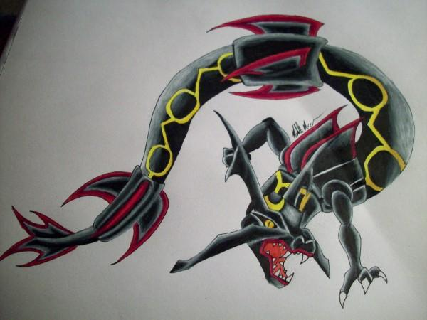 Shiny Rayquaza by IHerdULeikMukipz on DeviantArt