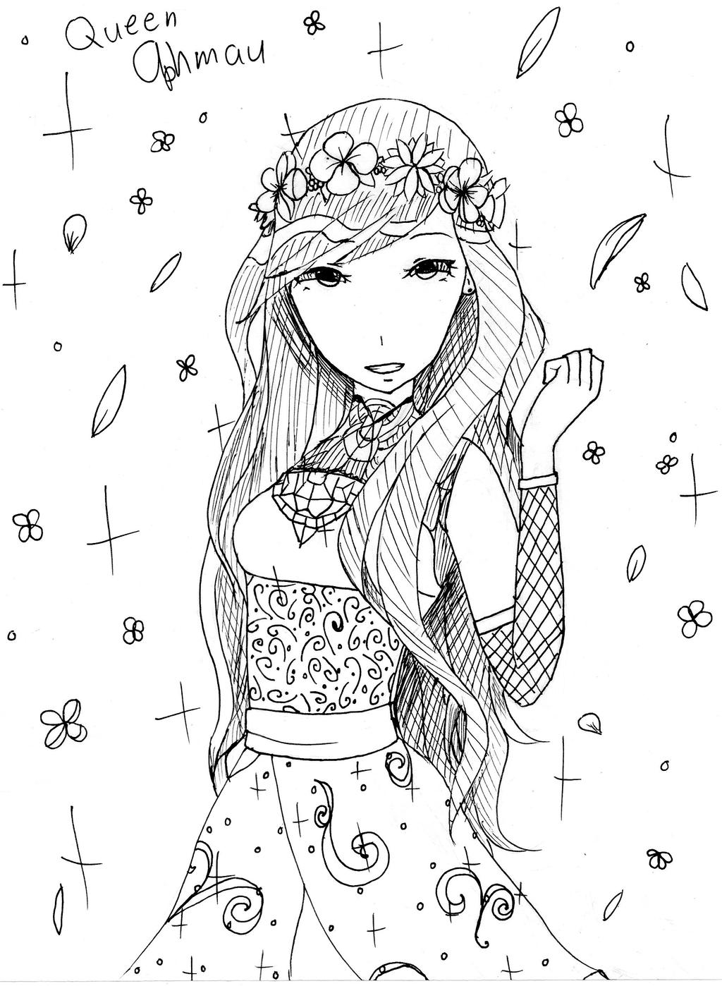 aphmau coloring page queen aphmau by neonnyagic on deviantart