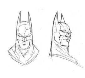 Batman, Bruce Wayne heads by TrevorMc112