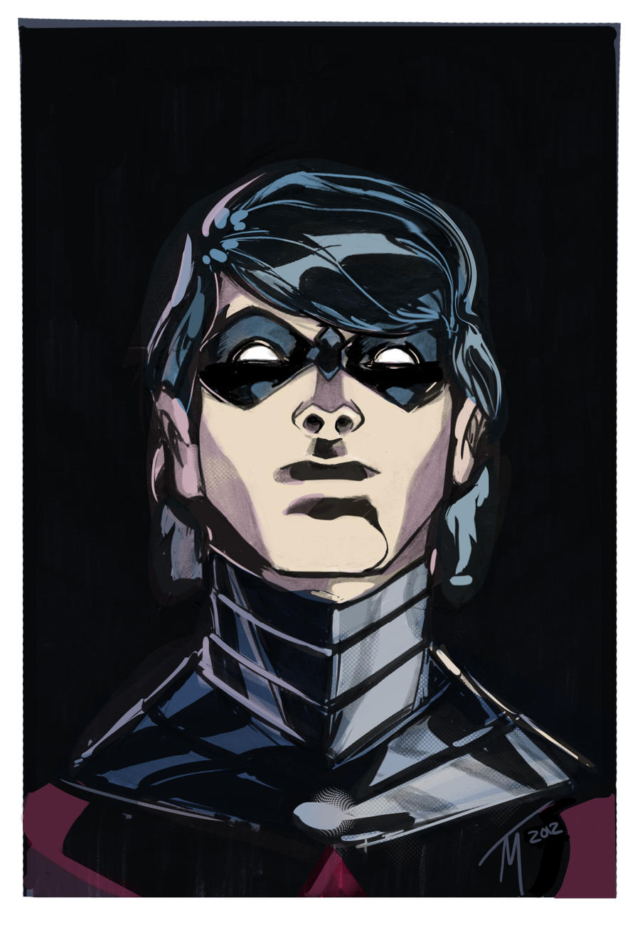 Nightwing Color Sketch by TrevorMc112