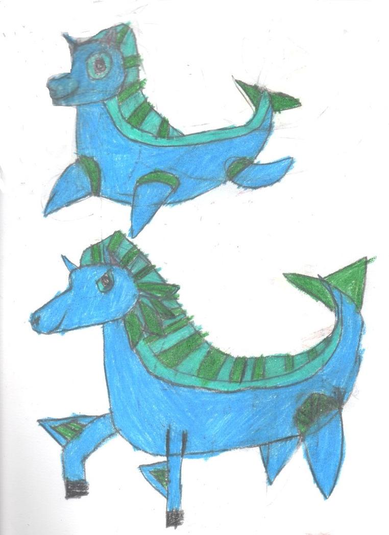 102-103: Horse Dragons by Robinsu