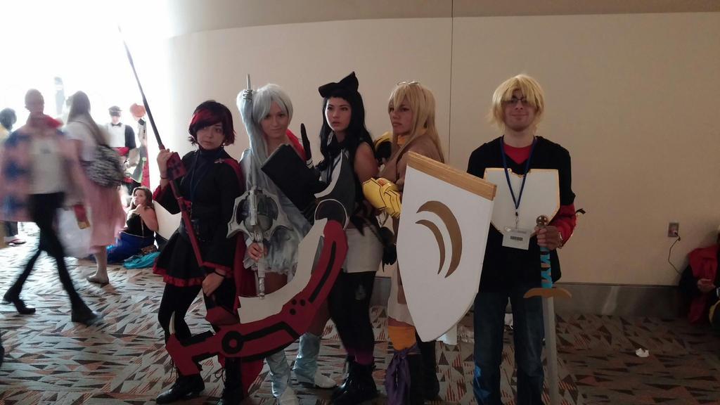 Otakon2014- The gang of five by Robinsu